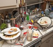 Service master Restore dirty dishes cleaning